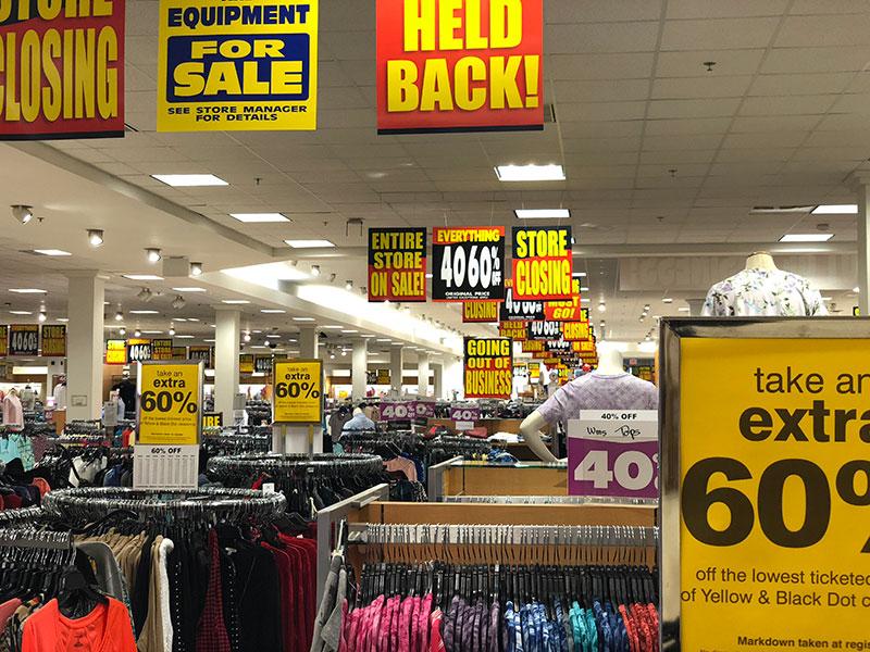 Retail Liquidation Signage